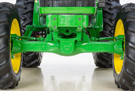 Heavy-duty MFWD front axle with limited slip